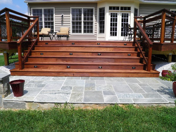 Ipe Exterior Stair With Riser Lights