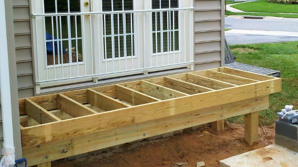 frame for the smaller entrance deck